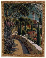 Varenna Vista - small Lake Como tapestry wallhanging
