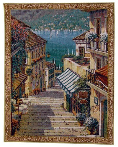 Bellagio Village - small Pejman Art wall tapestries