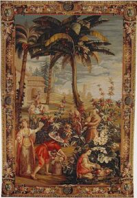 Harvesting of Pineapples tapestry - Emperor of China tapestries