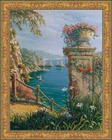 Capri Vista tapestry - Belgian wall tapestries