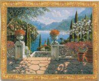 Italian Terrace tapestry - Lake Como tapestries