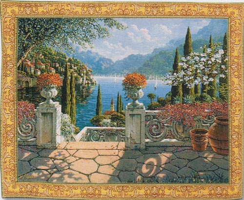 Italian Terrace tapestry - Lake Como tapestries
