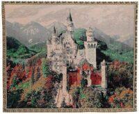 Neuschwanstein castle tapestry - Belgian wall tapestry