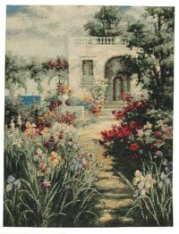 The Patio tapestry - Mediterranean garden