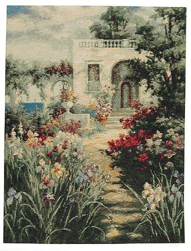 The Patio tapestry - Mediterranean garden