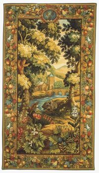 Verdure Hautil tapestry - 18th century Beauvais tapestries