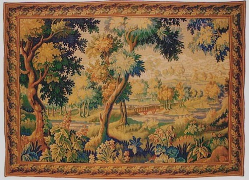 Forest of Retz tapestry - verdure woven in France