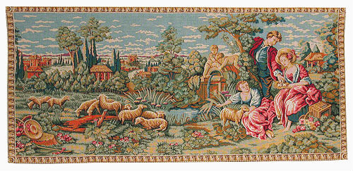 Grazing Sheep by Boucher - 18th century tapestries on sale