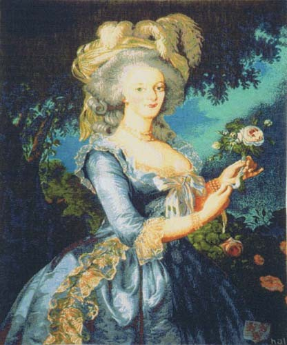 Marie Antoinette tapestry - woven in France