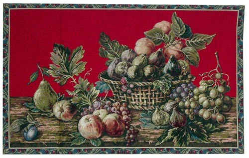 Fruit in a Basket - discontinued tapestries on sale