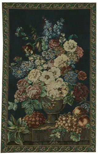 Blue and White Bouquet tapestry - discontinued tapestries