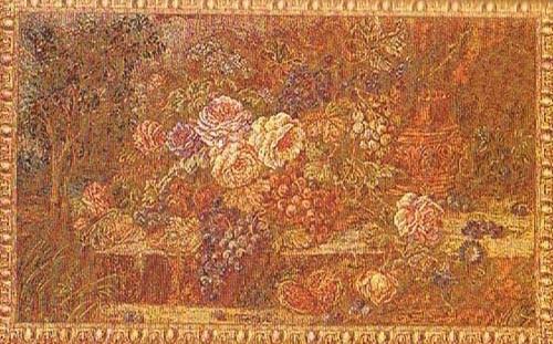 The Bouquet with Grapes - mustard colour tapestry