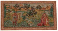 Medieval Landscape - tapestry woven in Italy
