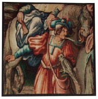 Maximilian tapestry on sale - small Belgian wall hanging