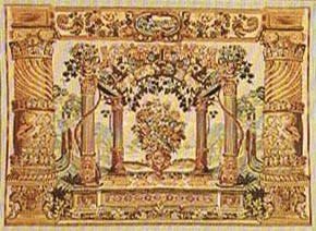 Terrace tapestry - light brown sale wall hanging