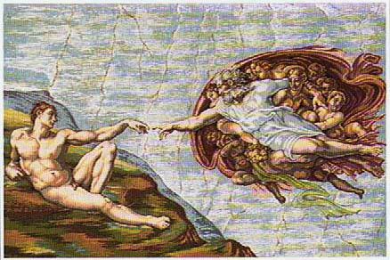 Creation tapestry - woven in Italy