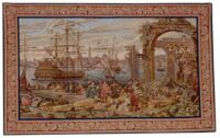 Venice Harbour - tapestry woven in Italy