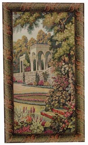 Temple in the Gardens - slim Lake Como tapestries