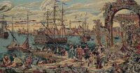 The Harbour wall tapestry - Italian tapestry on sale