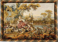 Fountain by the Lake tapestry - Francois Boucher tapestries