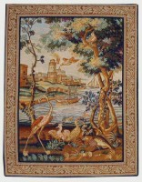 Waterside Birds - French tapestry on sale