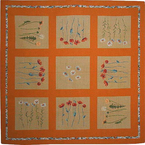 Wildflowers tablecloth - French tapestry weaver