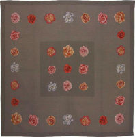 La Vie en Roses tablecloth - woven in France - tapestry weave