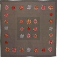 La Vie en Roses tablecloth - woven in France - tapestry weave