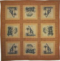 Giraffe and Lioness tablecloth - French table covering