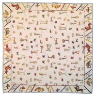 Bayeux Tapestry tablecloth - woven in France