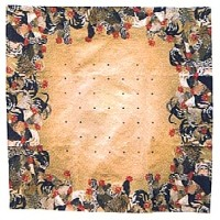 Cockerels tablecloth - roosters table cloth