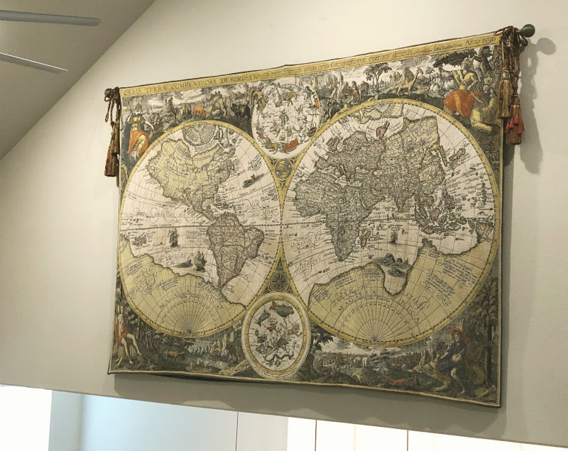 World maps wall tapestries - Jan Baptist Vrients