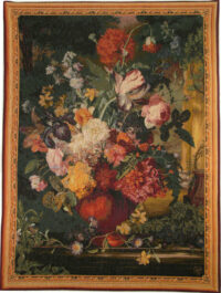 Bouquet Flamand tapestry - fine floral French wall-hanging
