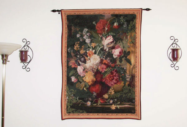 Fine floral French wall-hanging - Flemish Bouquet