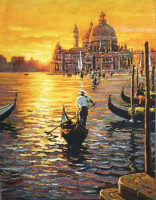 Day Ends at Venice tapestry - Pejman wall tapestries