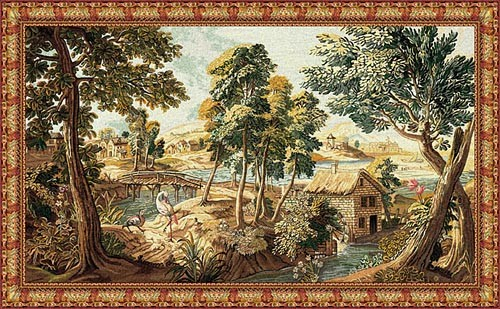 Verdure aux Oiseaux - Belgian wall tapestry