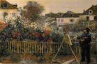 Monet Painting by Renoir - Impressionist tapestry