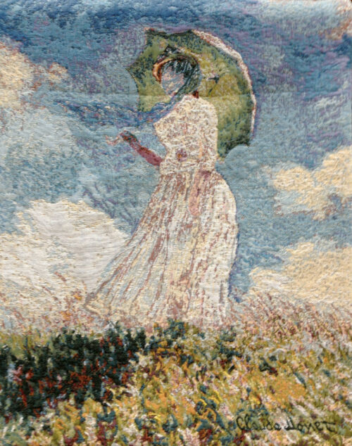 Woman with a Parosol - Claude Monet tapestry