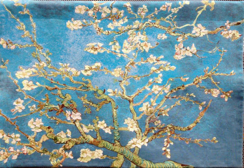 van gogh almond blossoms french wall tapestry hanging. Black Bedroom Furniture Sets. Home Design Ideas