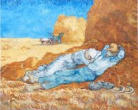 Noon Rest from Work - van Gogh tapestry