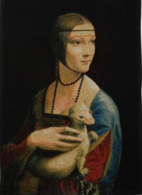 Lady with an Ermine - da Vinci tapestry wallhanging