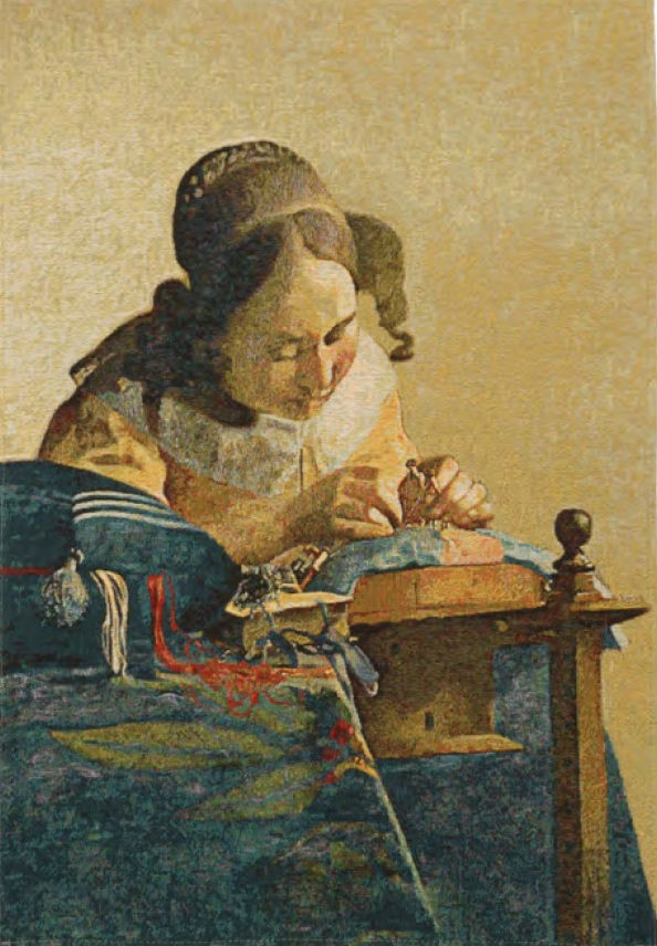 The Lacemaker tapestry - Vermeer wall tapestries