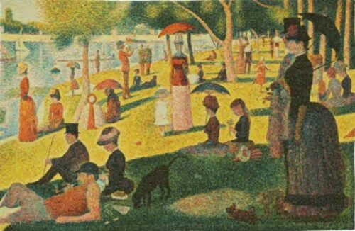 Georges Seurat Sunday Afternoon - Impressionist tapestry wall-hanging