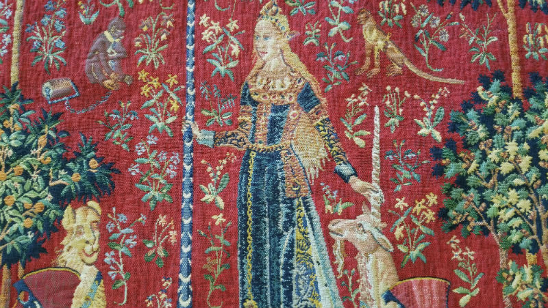 Medieval Lady with the Unicorn tapestries