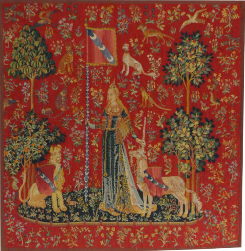Touch wall tapestry - medieval Lady with the Unicorn tapestries