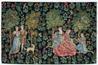 Scenes Galantes tapestry - mille fleurs wall tapestries