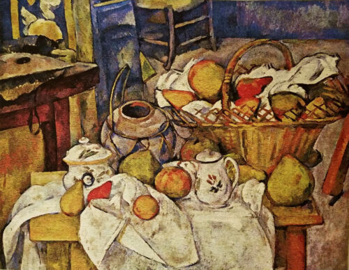 Cezanne Kitchen Table - Belgian Impressionist tapestry