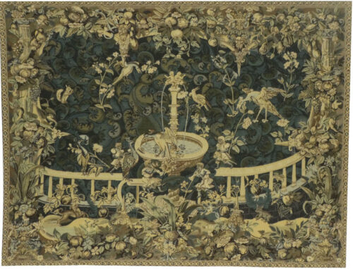 Fountain with Birds tapestry - 16th century Audenaerde tapestries
