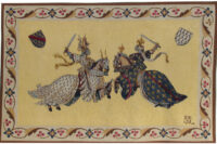 King Rene's Tournament tapestry - knights in combat