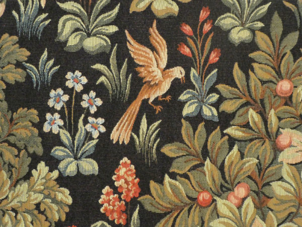 Mille fleurs wall tapestries detail